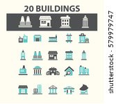 buildings icons  | Shutterstock .eps vector #579979747