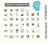 creative marketing icons  | Shutterstock .eps vector #579980947