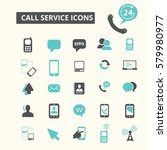 call service icons | Shutterstock .eps vector #579980977