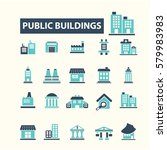 buildings icons  | Shutterstock .eps vector #579983983