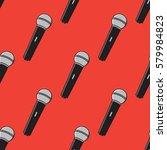 microphones pattern. vector... | Shutterstock .eps vector #579984823