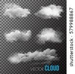 transparent set of smoke vectors   Shutterstock .eps vector #579988867