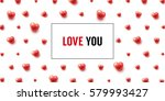 love you background with hearts ... | Shutterstock .eps vector #579993427
