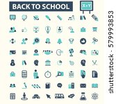 back to school icons | Shutterstock .eps vector #579993853