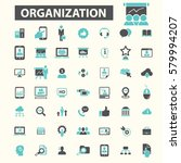 organization icons  | Shutterstock .eps vector #579994207