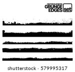 set of grunge and ink stroke... | Shutterstock .eps vector #579995317