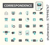 correspondence icons  | Shutterstock .eps vector #579998767