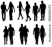 couples man and woman... | Shutterstock .eps vector #580000453