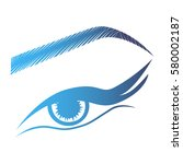 illustration with woman's eye... | Shutterstock .eps vector #580002187