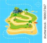 treasure map for game. treasure ... | Shutterstock .eps vector #580017367