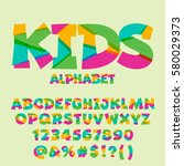 vector set of colorful letters  ... | Shutterstock .eps vector #580029373
