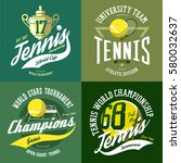 isolated set of tennis icons... | Shutterstock .eps vector #580032637