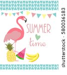 summer time card | Shutterstock .eps vector #580036183