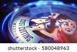 cost cutting. on pocket watch... | Shutterstock . vector #580048963