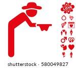 gentleman beggar pictograph... | Shutterstock .eps vector #580049827