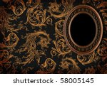 empty frame on wall | Shutterstock . vector #58005145