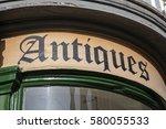 a close up of an antiques shop... | Shutterstock . vector #580055533