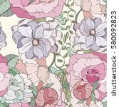 Seamless Flower Pattern Can Be...