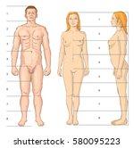 body art proportions | Shutterstock .eps vector #580095223