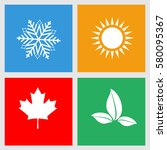 set of seasons icons  winter ... | Shutterstock .eps vector #580095367