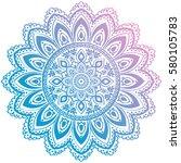 ethnic mandala ornament....   Shutterstock .eps vector #580105783