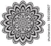 ethnic mandala ornament.... | Shutterstock .eps vector #580105807