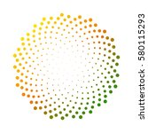 abstract colorful circle dotted ... | Shutterstock .eps vector #580115293