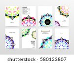 memphis geometric background... | Shutterstock .eps vector #580123807