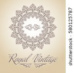 royal card with round pattern | Shutterstock .eps vector #580125787