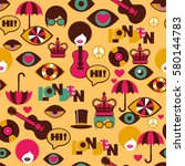 strange seamless british pattern | Shutterstock .eps vector #580144783