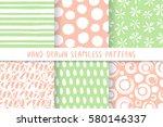 set of six pastel stylish...   Shutterstock .eps vector #580146337