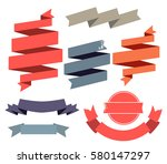 vintage flat ribbons banner... | Shutterstock .eps vector #580147297
