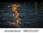 the reflection of light on... | Shutterstock . vector #580151107
