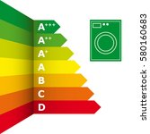 energy efficiency rating and... | Shutterstock .eps vector #580160683