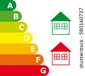 energy efficiency rating and...   Shutterstock .eps vector #580160737