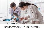 professional veterinarian... | Shutterstock . vector #580163983