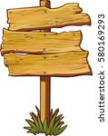 vector wooden sign isolated on