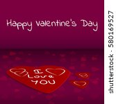 happy valentines day hand... | Shutterstock .eps vector #580169527