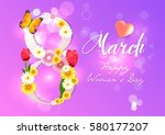 women's day. 8 march. women's... | Shutterstock .eps vector #580177207