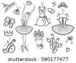 Set Of Ballet Design Elements