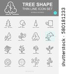 set of tree shape vector line... | Shutterstock .eps vector #580181233