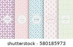 retro pastel seamless pattern... | Shutterstock .eps vector #580185973