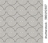 vector seamless pattern.... | Shutterstock .eps vector #580192507