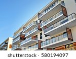 modern apartment buildings | Shutterstock . vector #580194097