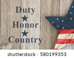 duty honor and country message  ... | Shutterstock . vector #580199353