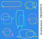 set of colorful speech bubbles | Shutterstock .eps vector #580209073