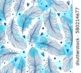 template seamless pattern with... | Shutterstock .eps vector #580214677