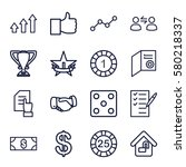 success vector icons. set of 16 ...   Shutterstock .eps vector #580218337
