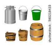 containers for food and liquids.... | Shutterstock .eps vector #580218433