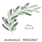 watercolor illustration with... | Shutterstock . vector #580222867